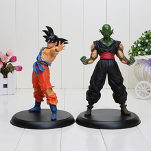 2 pcs/set Dragon ball Z Action figures toy Goku Piccolo Gotenks Kids gifts(China)