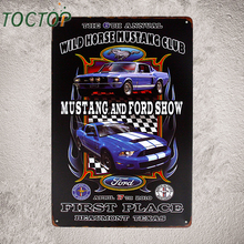 """Mustang Show"" Vintage Tin Sign Muscle Car Garage Poster Pub Bar Home Wall Decor I187"