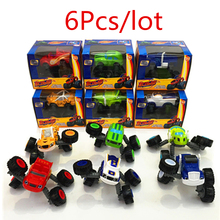6Pcs/Lot Big Size Blaze Car transformative Toys Educational Model Action Figures Toy Children Boys Gift