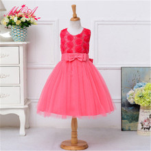 MQA L8051 baby girl clothes children girl beautiful princess wedding marry party casual design girl dress 2017 new arrival