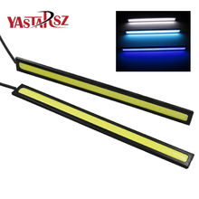 Car styling 17cm Ultra-thin 9W COB Chip New update LED Daytime Running Light LED DIY DRL Fog car lights car day running lights(China)