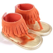 Baby Girl Tassel Shoes PU Hollow Out High Top Shoes Summer Soft Sole Prewalkers 0-18M(China)