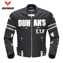 Duhan Men's Motorcycle Jacket Moto Mesh Riding Chaqueta Motocross Removable Sleeve Blouson Motobiker Racing Jaqueta Motoqueiro