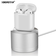 For AirPods Charging Stand Dock Aluminum Scratch-free Charger Dock For AirPods iPhone Magic Mouse and Magic Keyboard Silver