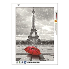 DIY 5D Diamond Painting Red Umbrella Embroidery Cross Stitch Crafts Home Decor #H0VH#