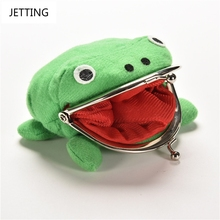 2016 New Arrival Frog Wallet Anime Cartoon Wallet Coin Purse Manga Flannel Wallet Cute purse Naruto Coin holder(China)
