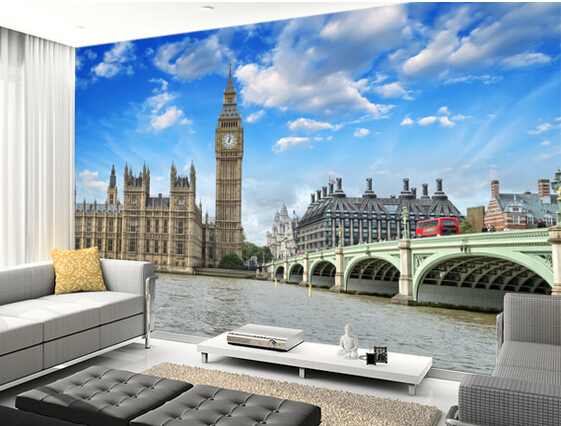 Custom photo wallpaper,London assembly murals for apartment, house, office or retail space background wall waterproof wallpaper <br>
