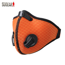 Outdoor Sports Cycling Protected Half Face Mask Military Anti-fog Breathable Activiated Carbon Face Mask Safety  Mesh Soft Guard
