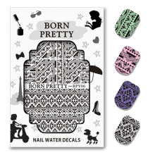 BORN PRETTY Triangle Diamond Shape  Water Decals Manicure Nail Transfer Sticker Nail Art Decoration BPY06