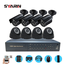 SYARIN CCTV 8CH Full 1080N DVR 1800TVL 720P Indoor Outdoor Security surveillance Camera Kit AHD 8 channel 1MP Safety System(China)