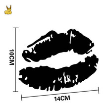 14*10CM Sexy Lips Car Stickers Personalized Motorcycle Vinyl Decals Electric motor car styling for Suzuki honda Mazda Chevrolet(China)