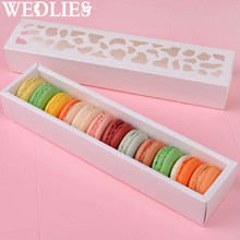 10Pcs/Set Cookies Packing Box White Hollow Cake Macaron Boxes Container Cupcake Storage Holder Wedding Party Events Favor Gift