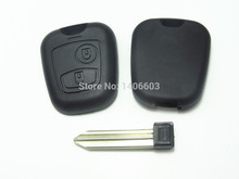 1pc Replacement Remote Key Shell Cover fit for PEUGEOT CITROEN Remote Key Fob Case Shell  uncut blade auto parts