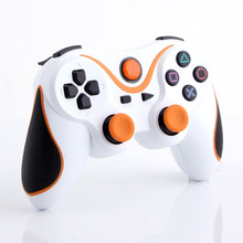 Orange plus White Wireless Bluetooth Sixaxis Controller for Sony PS3 Console Game