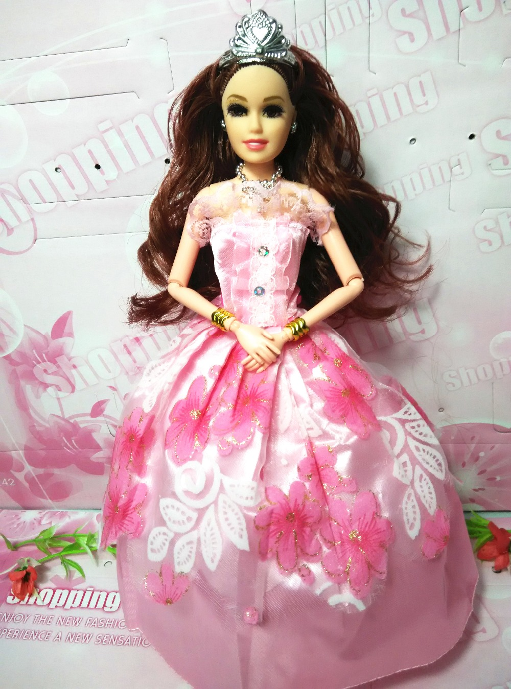 WF Unique For Barbie yellow pink Speckl d118 Gown Garments Get together Robe Informal wears 2016dolls
