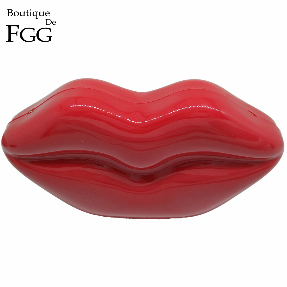 Ladies Fashion Wedding Dinner Shoulder Bag Red Sexy Lips Acrylic Clutch Handbag Women Shoulder Bags Banquet Party Clutches Purse<br><br>Aliexpress