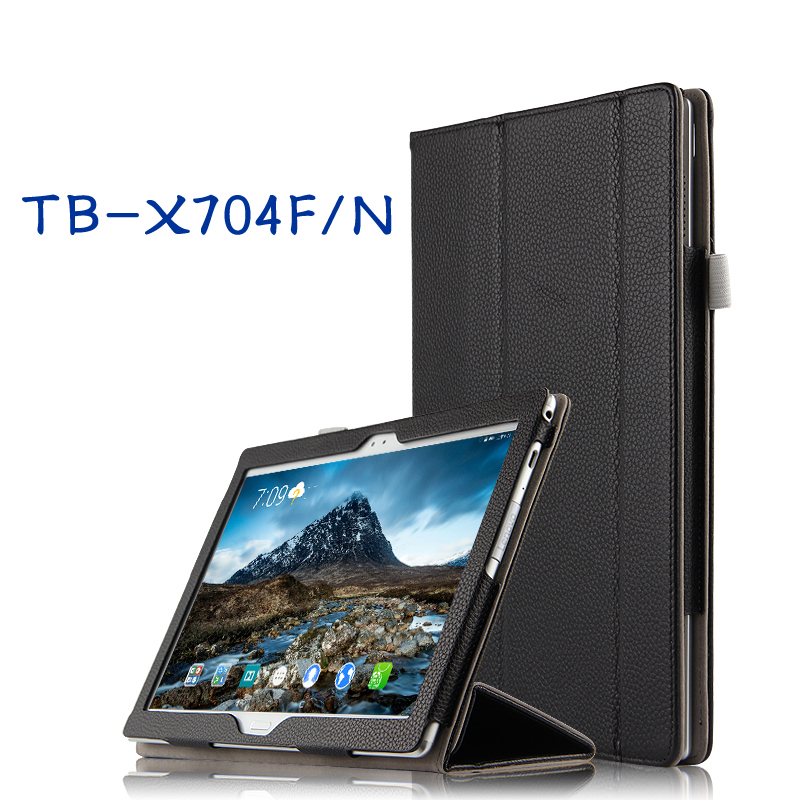 High Quality Genuine Real Leather Stand Shell Cover Mangetic Coque Funda Case For Lenovo TAB 4 10 Plus TB-X704N TB-X704F Tablet<br>