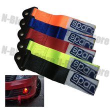 1pc Red Blue Orange Black High Strength Universal SSPARC tow strap Racing Car Tow Strap Tow Ropes JDM Towing Bars(China)