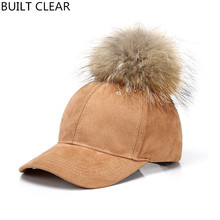 (BUILT CLEAR) casquette 2017 new deer leather cashmere fashion sports hat, snapback outdoor ladies wild real racco