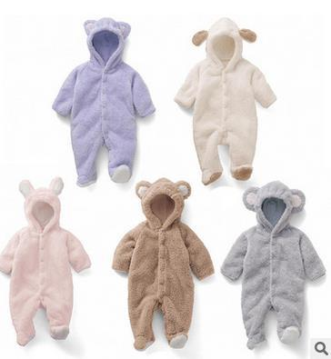 Baby Coverall animal style thick warm fall and Spring clothes newborn baby outside in winter climbing Romper suits padded L-73<br><br>Aliexpress