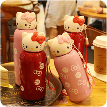 kitty Cat Vacuum Cup Stainless Steel Portable Hot Water Bottle Leak Proof Lovely Cartoon Children drink ware 200/280 available(China)