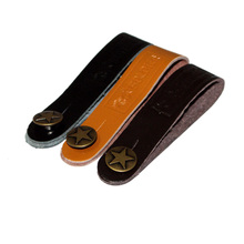 2 Pieces Leather Guitar Strap Button with Strong Metal Fastener, Fits Above Neck On Headstock Guitar Accessories