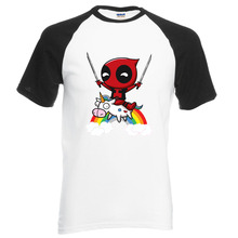 Deadpool Superhero Anime T-shirt Mannen 2018 Zomer Tops Harajuku 100% Katoen Raglan T-Shirt Losse Fit Stijl Hiphop Streetwear(China)