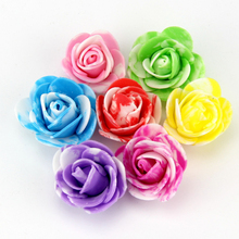 20PCS/Lot 3CM Cheap Foam Spotted Mini Artificial Rose Flower Head For Wedding Party& Wedding Car Decoration DIY Wreath Flowers