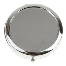 YOST-Stylish Compact Round Metal Pill Case Box Organizer 3 Compartment