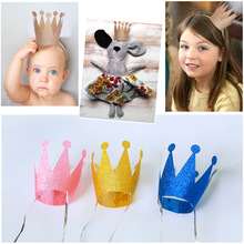 6pcs Cute Party Birthday Hat for Spots Decoration Birthday Celebration Party Decor Kids Children Birthday Crown Supply on Sale