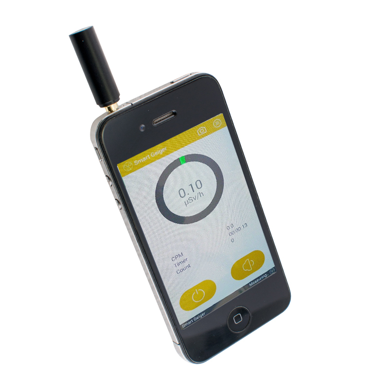 Smart Geiger Radiation Watch Counter nuclear Gamma, X-ray for iOS Android<br>