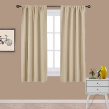 NICETOWN Home Decorations Thermal Insulated Solid Blackout Living Room Rod Pocket Curtains / Drape for Living Room