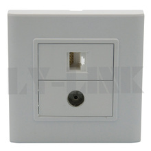 TV and RJ45 wall plate