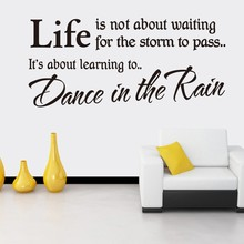 Home Products Unique Home Restaurant Decorative Wall Stickers Characters Creative Dance In The Rain Art Visual Wall Stickers