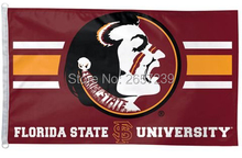 Wincraft Florida State Seminoles Flag 3x5FT NCAA banner 100D 150X90CM Polyester brass grommets custom66,free shipping(China)