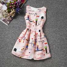 Trendy Floral Baby Girl Sundress Children Princess Dresses For Girls Clothing 6-12 Years Old Teen Girl School Wear Kids Clothes