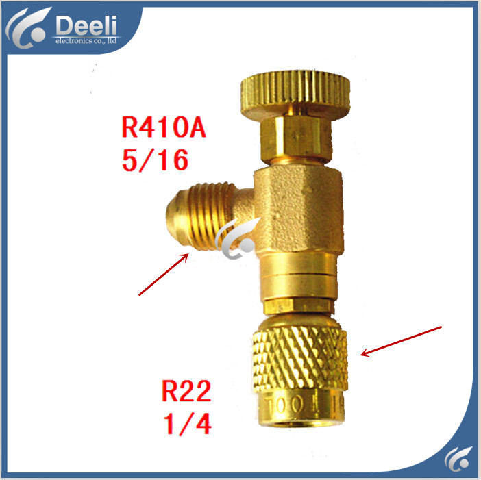 2pcs/lot new Refrigeration Charging Adapter refrigerant retention control valve Air conditioning charging valve R410A R22<br><br>Aliexpress