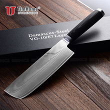 Damascus knives kitchen Japanese damascus vg10 chef knife 67 layers damascus steel kitchen knives Timhome(China)