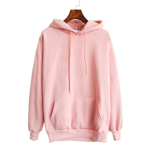 2016 New Women pink Hoodies Sweatshirt Casual Harajuku Long Sleeve tracksuit Pocket Design Pullovers top Sudaderas Mujer