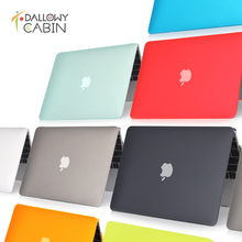 DallowyCabin 2016 NEW Matte Hard Case Cover Macbook Mac book 11 13 15 Air Pro Retina 11.6 12 13.3 15.4 inch Laptop Cases