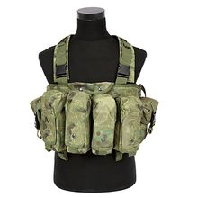 Outdoor AK 47 Magazine Carrier Combat Military Camouflage Tactical Vest Airsoft Ammo Chest Rig
