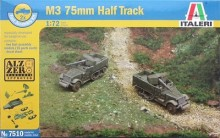 Out of print! Italeri 7510 1/72 M3 75mm half truck model kit