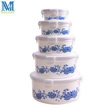 1PC Printing Plastic Food Container Refrigerator Crisper Box 5 Sizes Vegetable/Food Preservation Storage Box(China)
