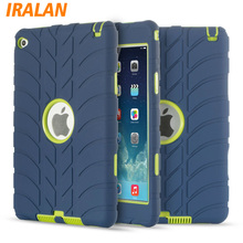 Hybrid Armor Silicone Case For iPad Mini 4 Shockproof Heavy Duty Hard drop resistance Kids Safe ipad tablet accessories(China)