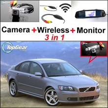 3 in1 Special Rear View Wifi Camera + Wireless Receiver + Mirror Monitor Easy Back Up Parking System For Volvo S40 S40L V40 V50
