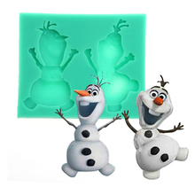 Olaf cooking tools Christmas wedding decoration silicone mold fondant DIY cake decoration sugar baking mould F0165