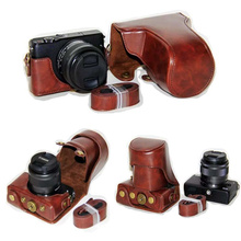 Black/Brown/Coffe/Pink/White Camera Bag Case PU Leather Case Cover for DSLR Canon EOS M10 15-45mm 55-200mm With Strap