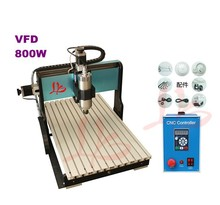 No tax! mold engraving machine precision cnc router 6040 Z-S 800W,water cooled,with limit switch cutting machine