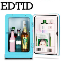 12L MINI Car Fridge Portable Auto household Refrigerator Travel Food electric Warmer Freezer Cooler Box home office 12V 220-240V(China)