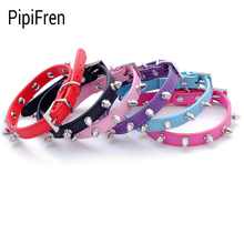 PipiFren Dogs Collars Spiked Rivet Necklace Supplies For Pets Cat Puppy Collar Accessories honden halsband laisse chien tasma